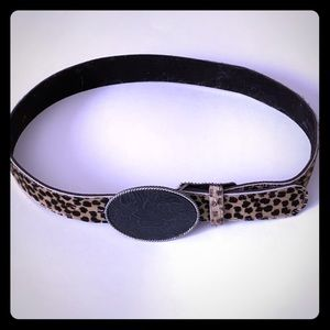 """CAbi""- faux Cheetah print belt"